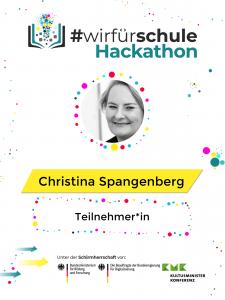 Hackathon Wir für Schule Badge